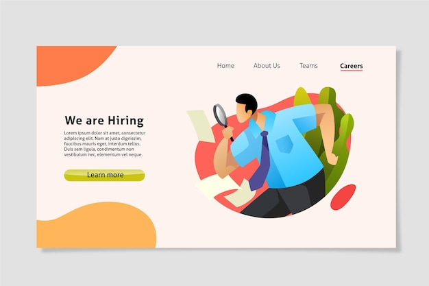 We are hiring landing page Premium Vector