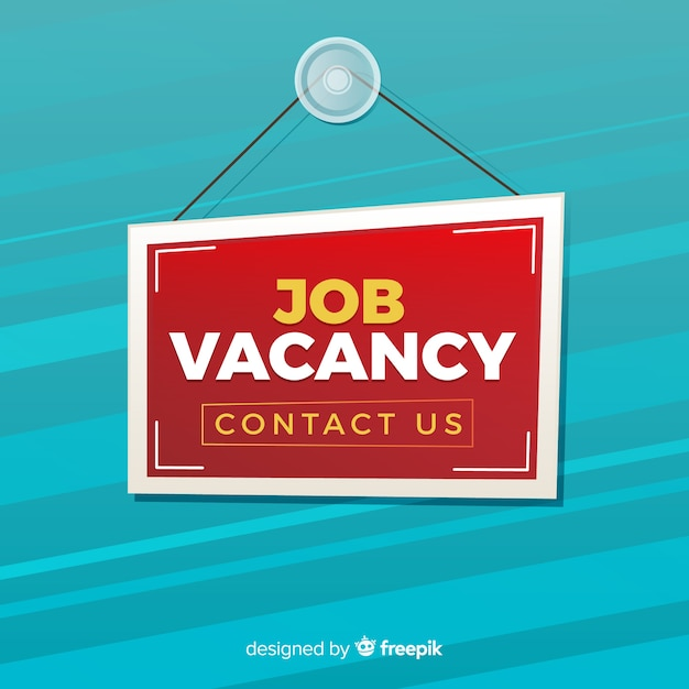 We are hiring  modern background Free Vector