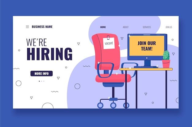 We are hiring recruitment landing page Premium Vector