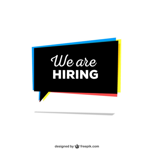 We are hiring sign Free Vector