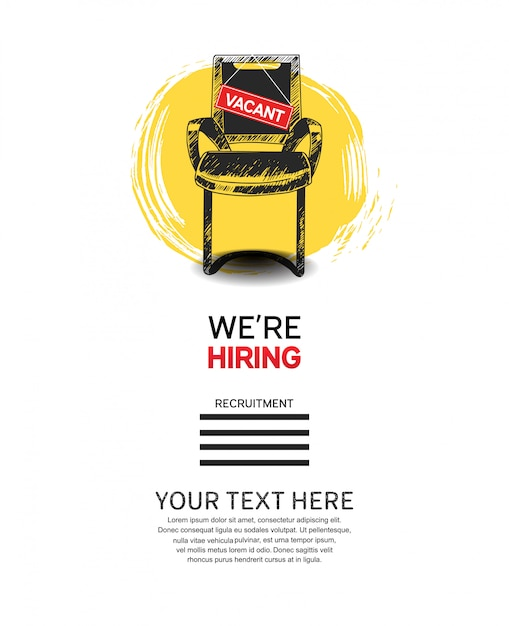 We are hiring template Premium Vector