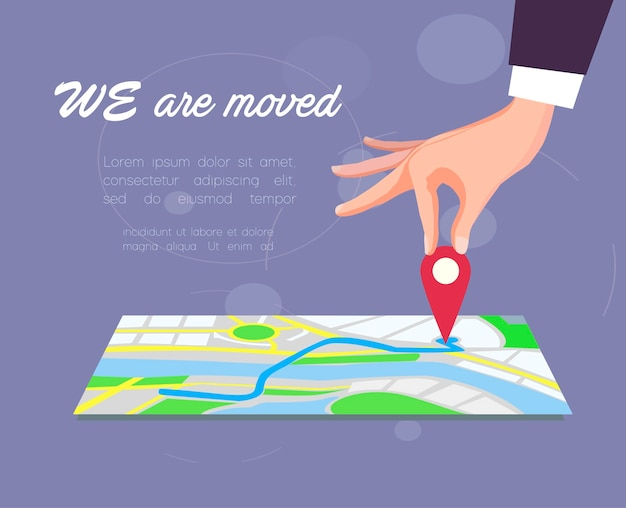 We are moved. vector illustration. Premium Vector