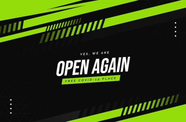 Мы снова открыты Premium векторы