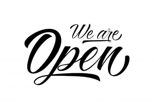 Znalezione obrazy dla zapytania we are open