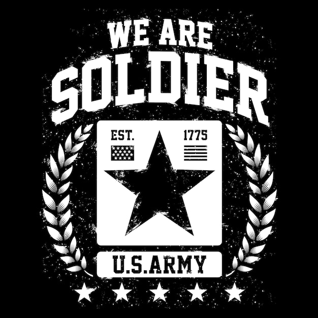私たちは兵士、アメリカ陸軍のテーマ、アメリカの愛国者デザイン Premiumベクター