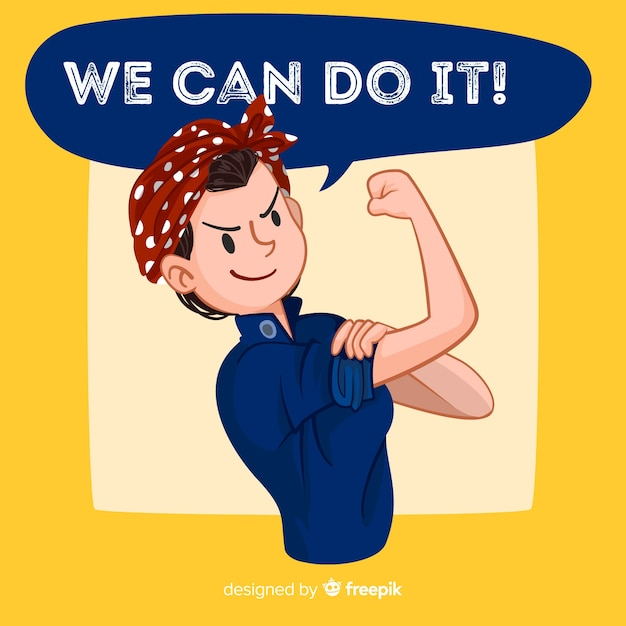 We can do it! background Premium Vector