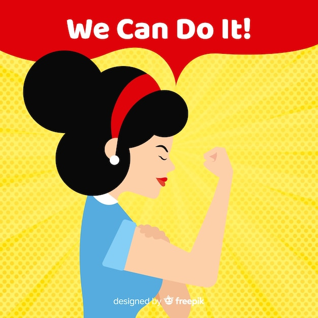 We can do it! Free Vector