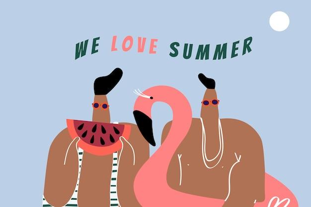 We love summer Free Vector