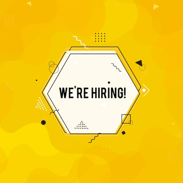 We're hiring background Premium Vector