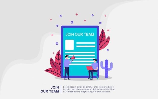 We're hiring join our team online recruitment concept Premium Vector
