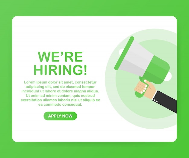 We're hiring web template Premium Vector