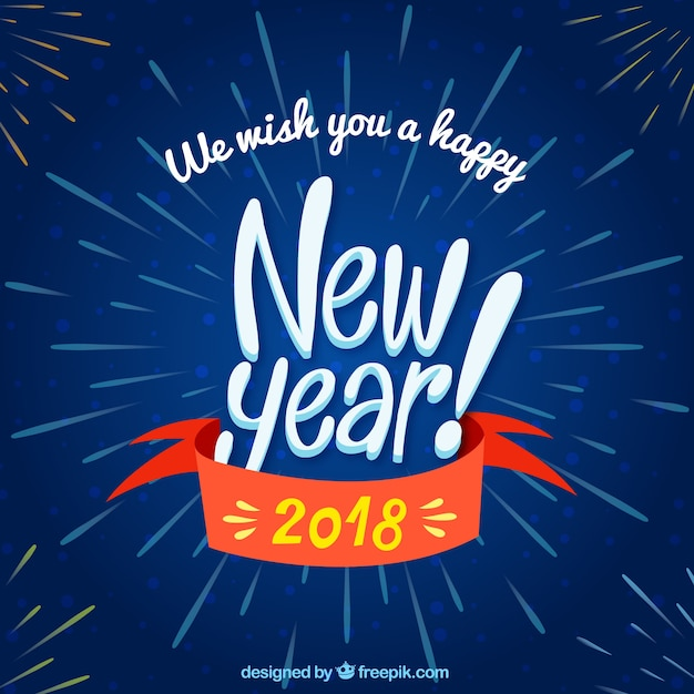we wish you a happy new year background free vector