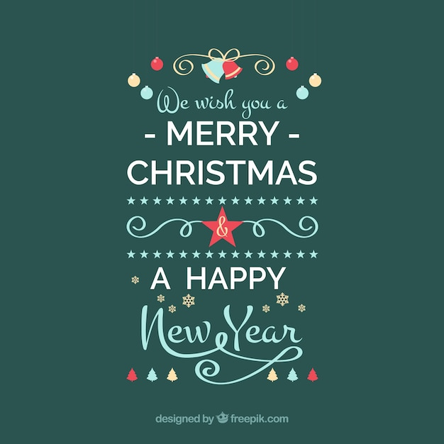 We wish you a merry christmas and a happy new year Vector | Free ...