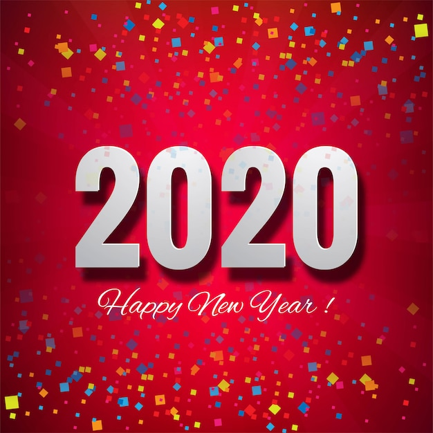 We wish you a happy new year 2020 beautiful card Vector ...