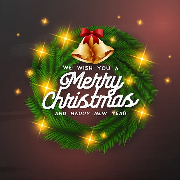 We wish you a merry christmas background Vector | Free ...