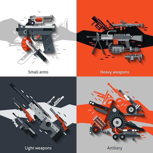 Weapon design concept Premium Vector