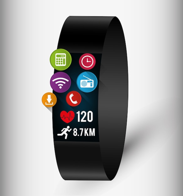 Wearable technology graphic Premium Vector