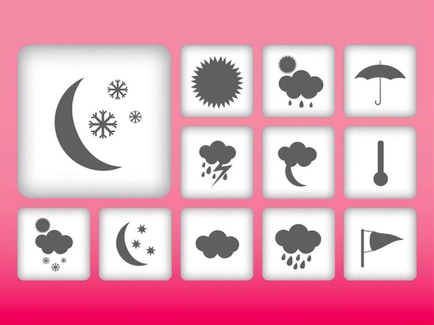 Weather climate geometric icon vector