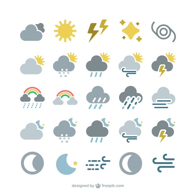 iphone symbols meaning weather forecast icons vector free 8568