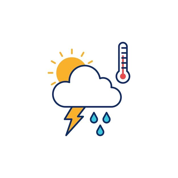 Weather illustrative icon vector illustration Premium Vector