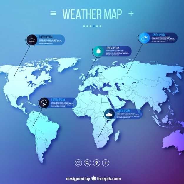 Weather map infographic vector free download weather map infographic free vector gumiabroncs Gallery