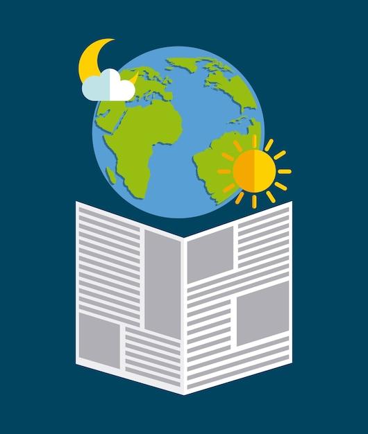 気象ニュースデザイン、ベクトルイラストeps10グラフィック Premiumベクター