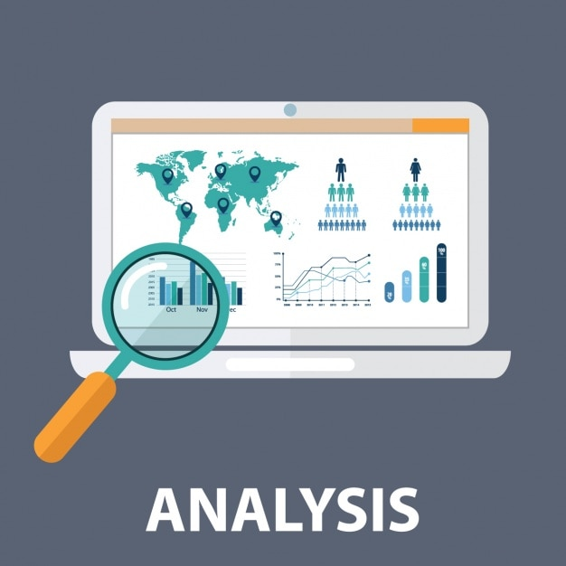 Web analytics Free Vector