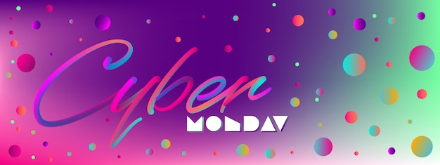 Web banner for cyber monday or any discount Premium Vector