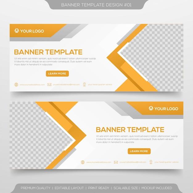 Web banner template design Premium Vector