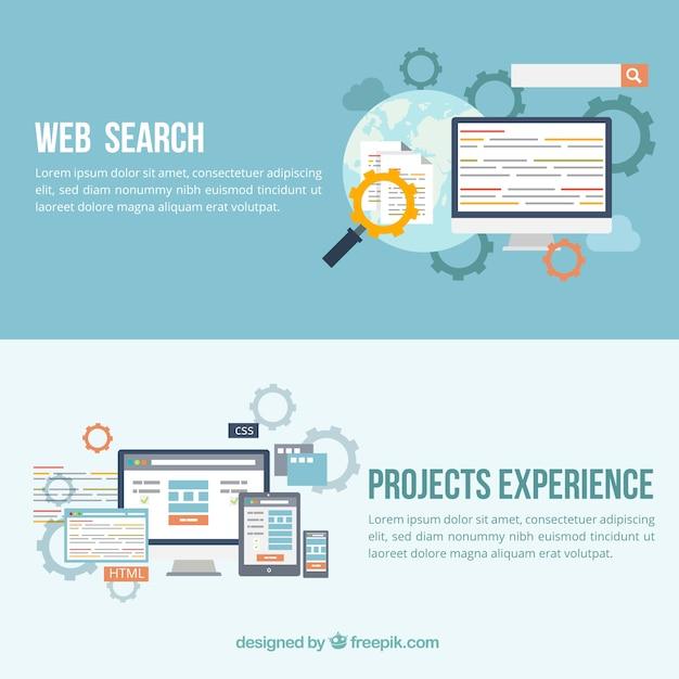 web banners Premium Vector