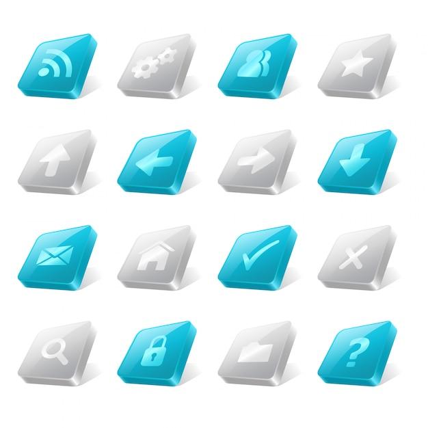 Webボタン要素 Premiumベクター