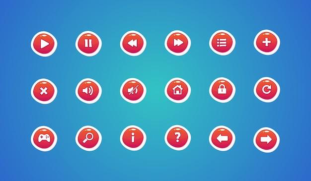 Web buttons, game design buttons Premium Vector