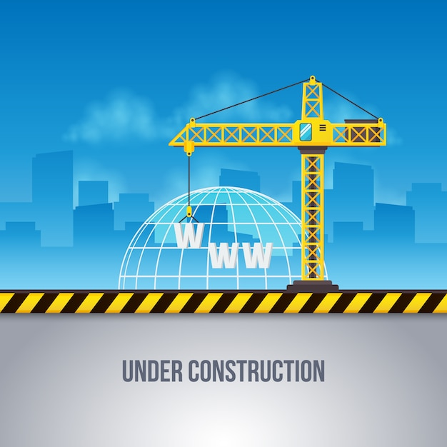 Web under construction background Free Vector