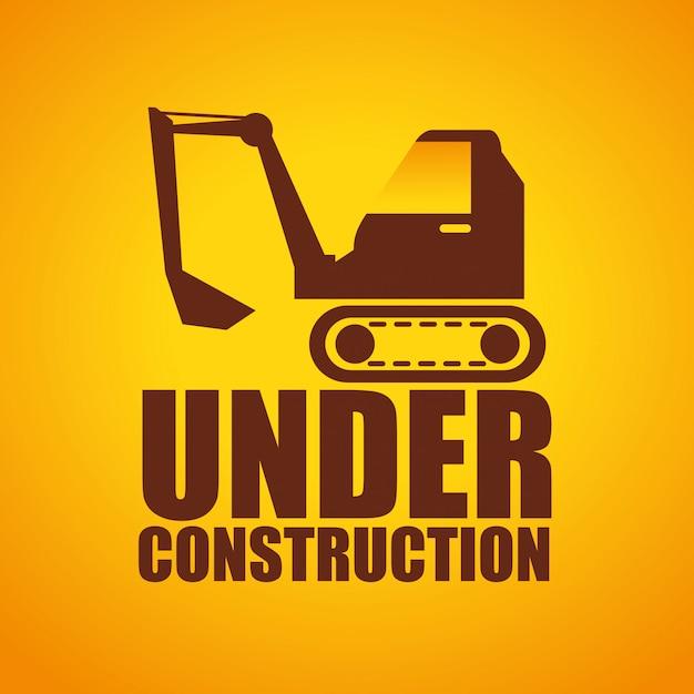 Web under construction design Premium Vector