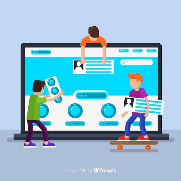 Web design concept background Free Vector