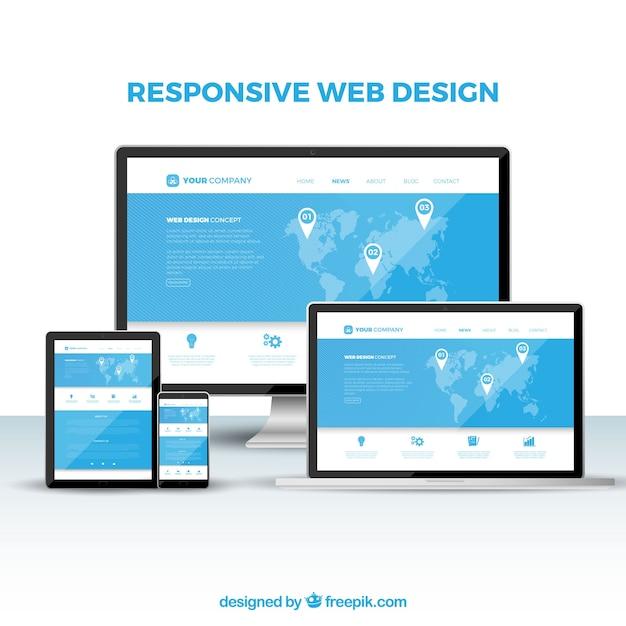 Freepik Web Design Concept With Flat Design Vector For Free