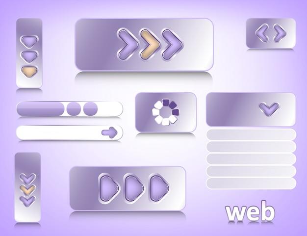 Элементы веб-дизайна Premium векторы