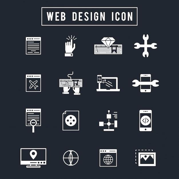 Web design icon Free Vector