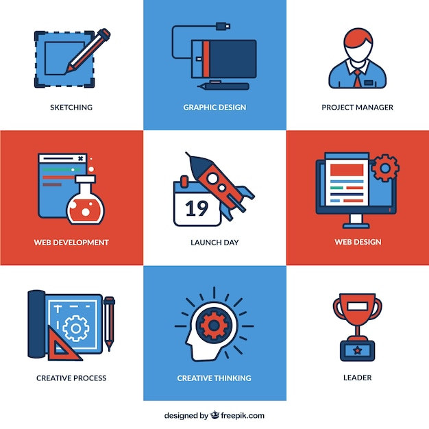 web design icons vector free download