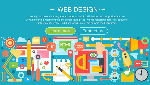 Web design infographic Premium Vector