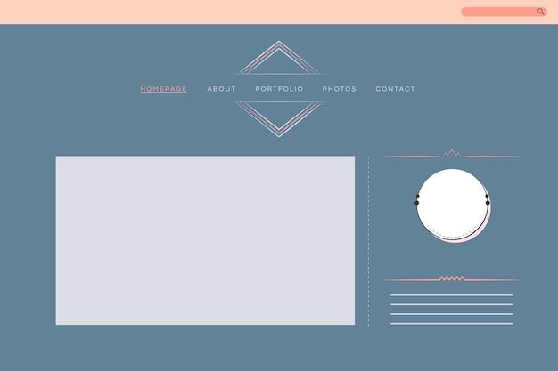 Web design for portfolio layout vector Free Vector