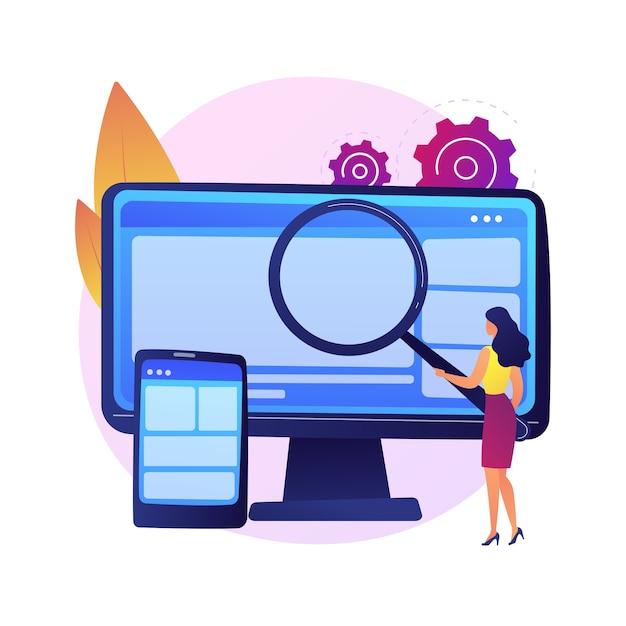 웹 디자인. 웹 사이트 제작 및 유지 관리. 웹 그래픽, 인터페이스 디자인, 반응 형 웹 사이트. 소프트웨어 엔지니어링 및 개발 다채로운 아이콘입니다. 무료 벡터