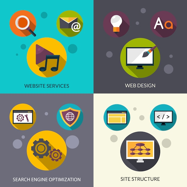 Web design set Free Vector