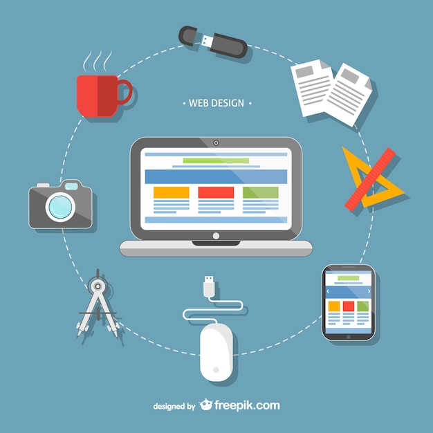 Captivating Web Design Tools Free Vector