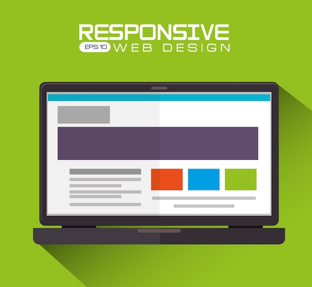Web design, vector illustration. Premium Vector