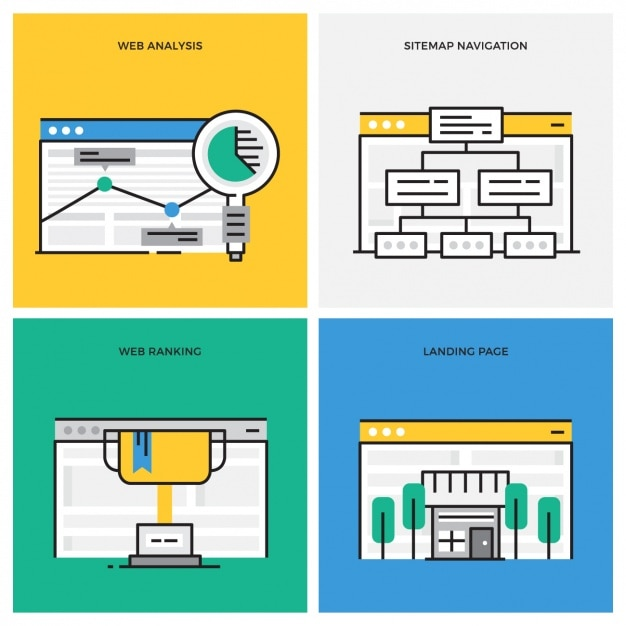 Web designs collection Free Vector