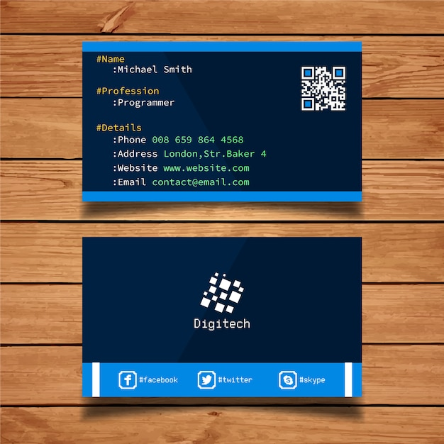 Web developer business card vector free download web developer business card free vector colourmoves