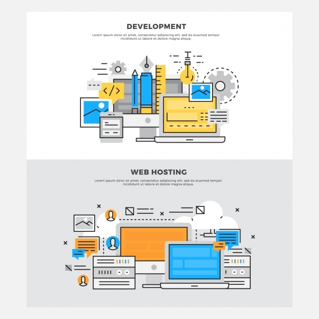 Web Development Designs Vector Free Download