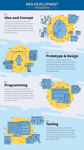 Web development infographic Free Vector
