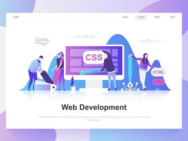 Web Development Modern Flat Design Concept Premium Vector